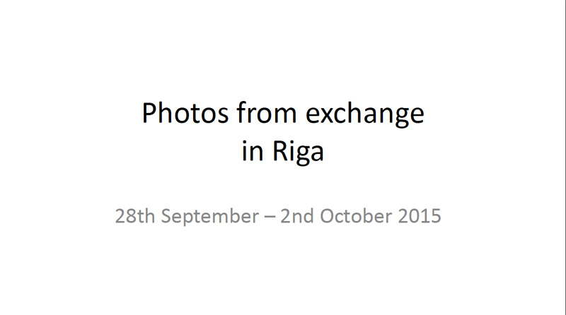 Students' Exchange at Riga 01
